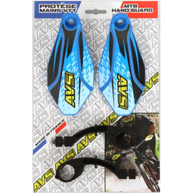 AVS Racing Hand Guard Kit with Design, blue/black